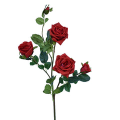 Real Hand Touch  Long Stem Silk  Artificial Rose Flowers