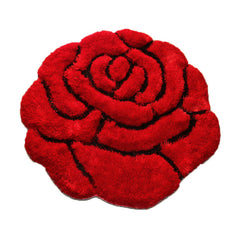 3D Rose Flower Shape Soft and Smooth Shaggy Rug 2.95' x 2.95'