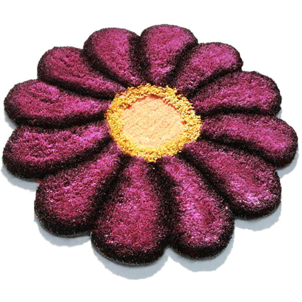 Sunflower Rug Flower Shaped Door Mat 2.95' x 2.95'