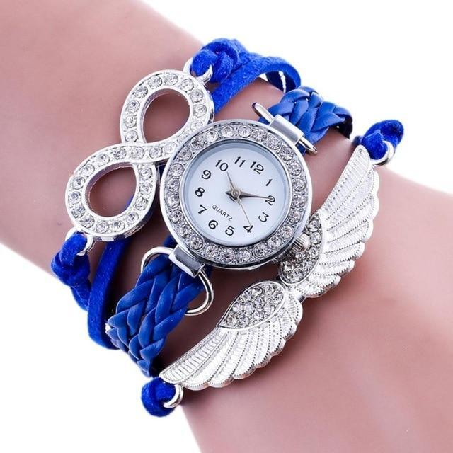 769026c14 ... Load image into Gallery viewer, XINIU Women Bracelet Watches Angel Wing  Wrap Around Watch Synthetic ...