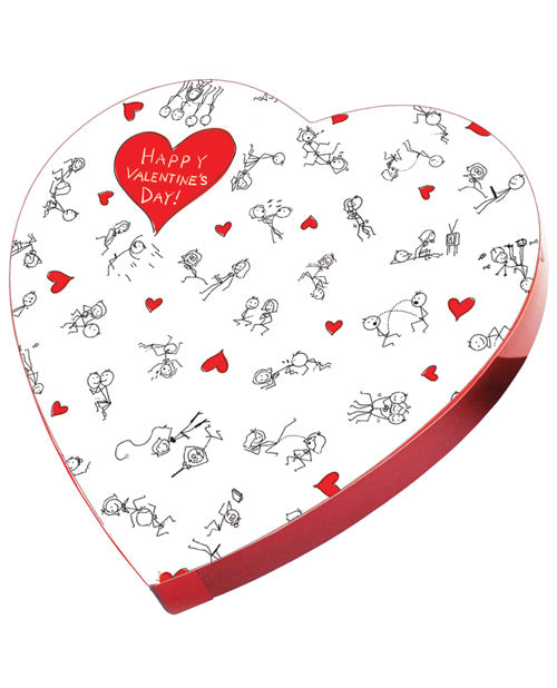 Happy Valentines Day Stick Figure Candy In A Heart Box