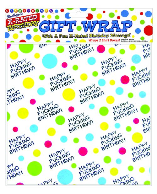 Happy Fucking Birthday Giftwrap - 2 Sheets