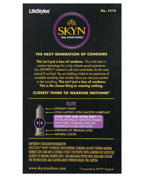 Lifestyles Skyn Elite Ultra Thin Condoms - Pack Of 10