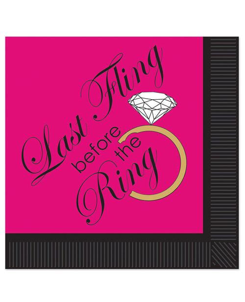 Bachelorette Last Fling Before The Ring 2 Ply Napkins - Pack Of 16
