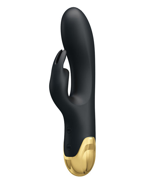 Pretty Love Double Pleasure Liquid Silicone 7 Function Rabbit - Black & Gold