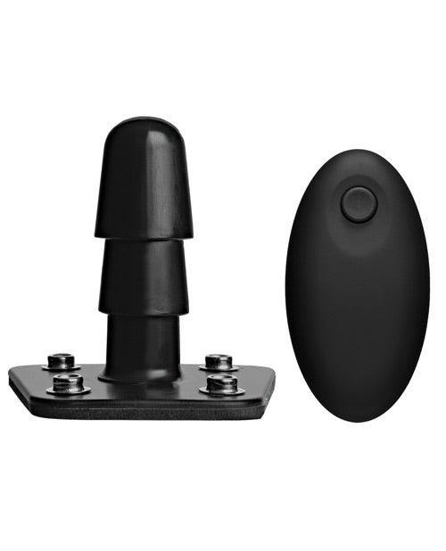 Vac-u-lock Vibrating Remote Plug W/snaps - Black