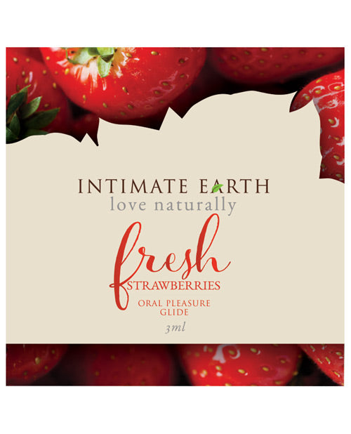 Intimate Earth Lubricant Foil - 3 Ml Fresh Strawberries