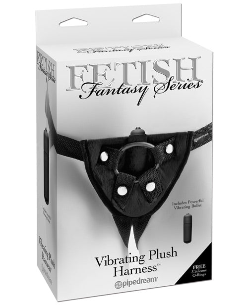 Fetish Fantasy Series Vibrating Plush Harness - Black