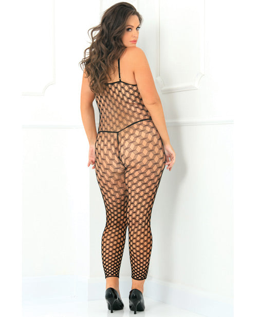 Rene Rofe Rough Diamond Bodystocking Black Qn