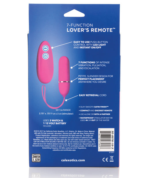 Posh 7 Function Lovers Remote - Pink