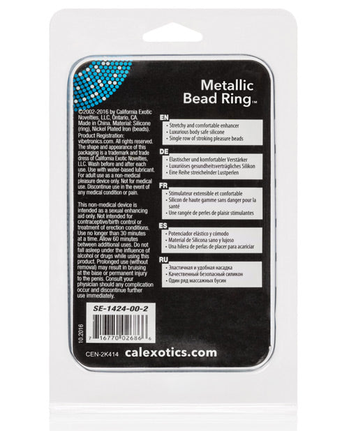 Metallic Bead Ring