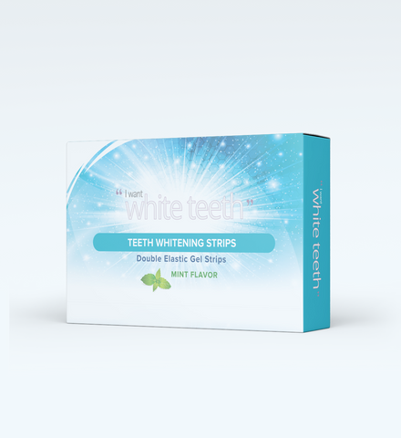 I WANT WHITE TEETH -PRO WHITENING STRIPS - 14 DAY TREATMENT PACK