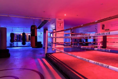 The boxing ring in Ringtone Boxing Gym Euston London