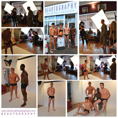 Behind the camera on a male underwear photoshoot