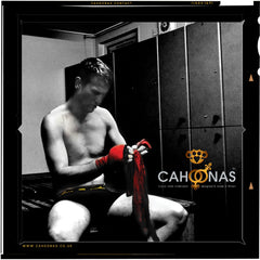 Craig mcEwan wears Cahoonas in the changing room of clovenstone boxing club