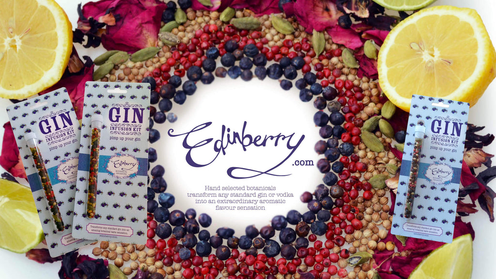 edinberry ginfusion kits and an arrary of botanicals