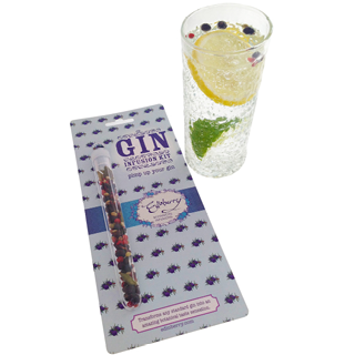 Edinberry Botanical infusion kit with a tall glass of gin & tonic