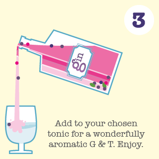 Step 3. Add to your chosen tonic for a wonderfully aromatic G & T. Enjoy.