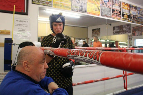 Sparring In the boxing ring at Islington boxing club London