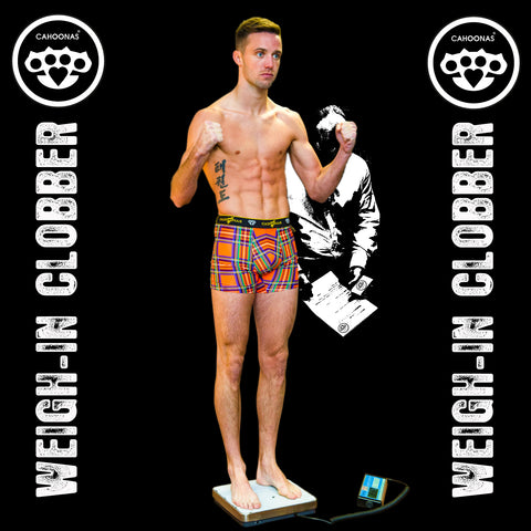 Josh Taylor, the Tartan tornado- undefeated pro boxer from Prestonpans weighs in wearing bespoke Cahoonas tartans