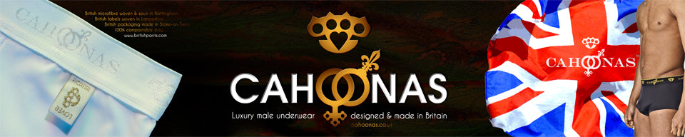 Patented innovation in British made male underwear by cahoonas