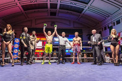 Ben Day wins in one of his Pro fights, Ringtone boxing club owner Euston London