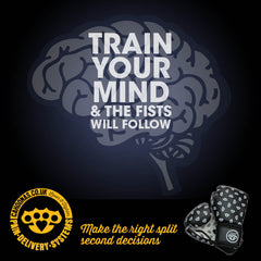 train your mind and the fists will follow, boxing gloves