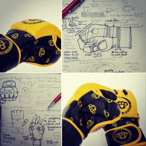 designs for development of a age fighting glove.