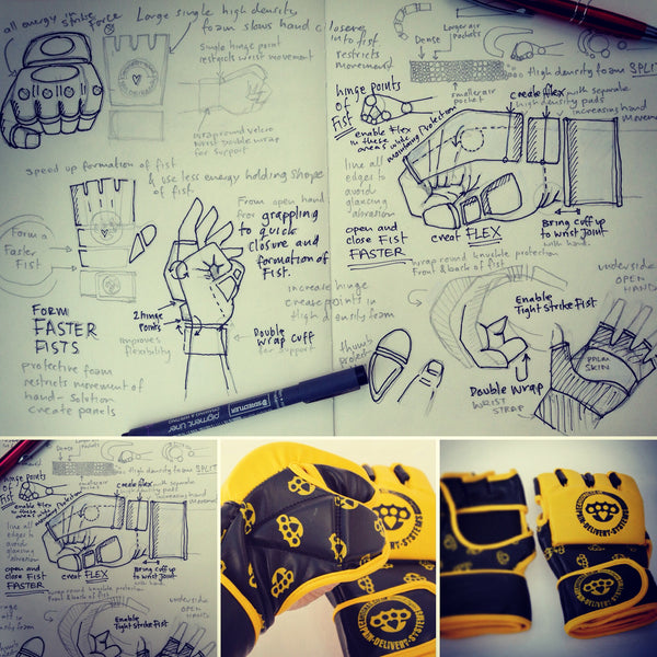 MMa glove product design illustrations