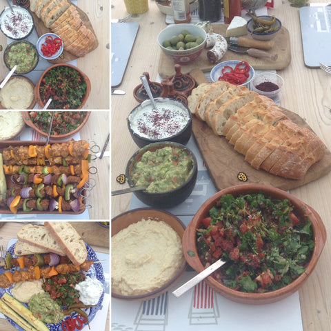 Friday food, home made Mezze