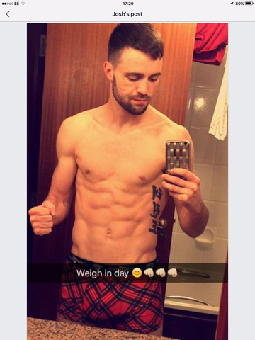 Josh Taylor boxer on weigh in day, ready to deliver the pain and continue on his road to success and glory