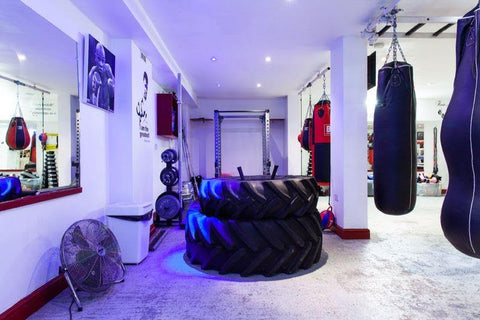 Tractor tyres, the latest hardcore training kit with a sledge hammer combo