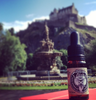 edinburgh castle and a bottle of chinsporran beard oil