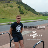 Black British Microfibre Baselayer by Cahoonas, at Arthurs seat Edinburgh