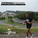 Running up Arthurs seat while wearing Cahoonas black British Microfibre Baselayer