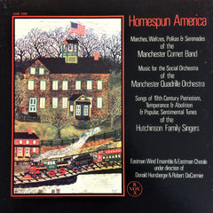 Çeşitli Sanatçılar / Homespun America Marches, Waltzes, Polkas and Serenades of the Manchester Cornet Band, 3 LP Box