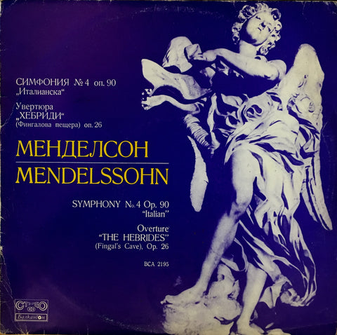 "Mendelssohn / Symphony No.4 & Overture ""The Hebrides"", LP"