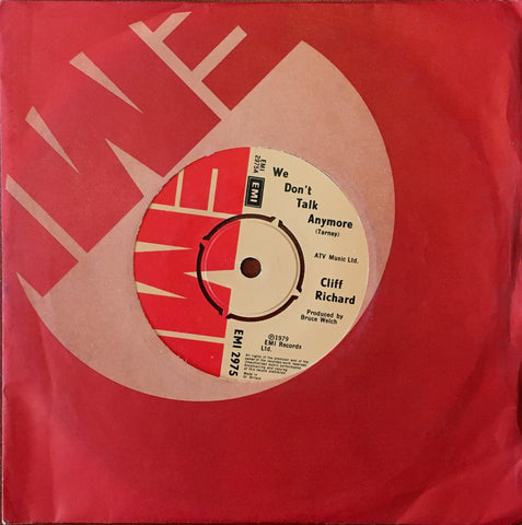 Cliff Richard, We Don't Talk Anymore / Count Me Out, 45'lik