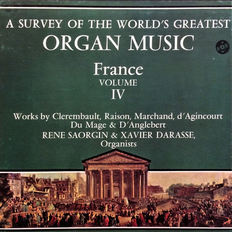 Çeşitli Sanatçılar / A Survey of the World's Greatest Organ Music (France), Volume IV, 3 LP Box