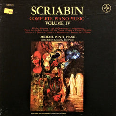 Alexander Scriabin / Complete Piano Music Volume IV, 3 LP Box