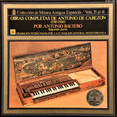 Antonio De Cabezon / Complete Works Vol. 35-41, 7 LP Box