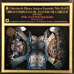 Antonio De Cabezon / Complete Works Vol. 24-31, 8 LP Box