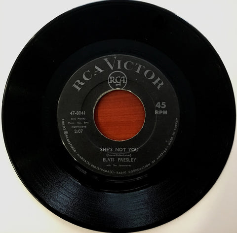Elvis Presley, She's Not You / Just Tell Her Jim Said Hello, 45'lik