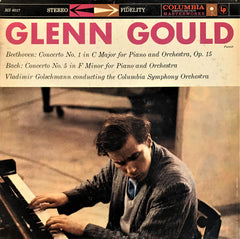 Glenn Gould / Beethoven: Concerto No. 1 For Piano and Orchestra, Bach: Concerto No. 5 For Piano and Orchestra, LP