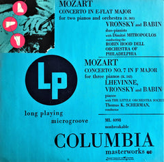 Mozart / Concerto in E-flat Major for Two Pianos, Concerto No. 7 for Three Pianos, LP