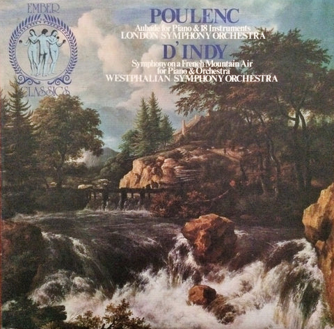 Francis Poulenc / Choreographic Concerto, Vincent D'Indy / Symphony on a French Mountain, LP
