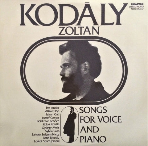 Kodaly / Songs for Voice & Piano, LP