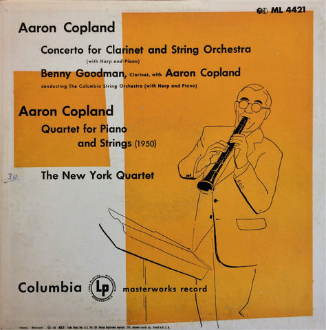 Aaron Copland, Benny Goodman / Concerto for Clarinet and String Orchestra, LP