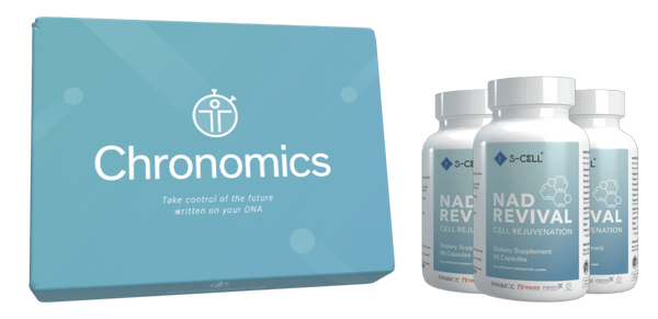 Healthspan Epigenetics Test Kit and NAD Revival [3-month] Bundle | S-CELL