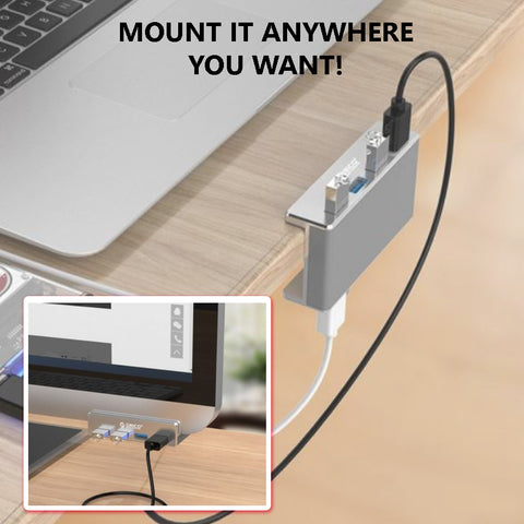 Built with USB 3.0 technology, this adapter hub will give you a secured and instant connection experience